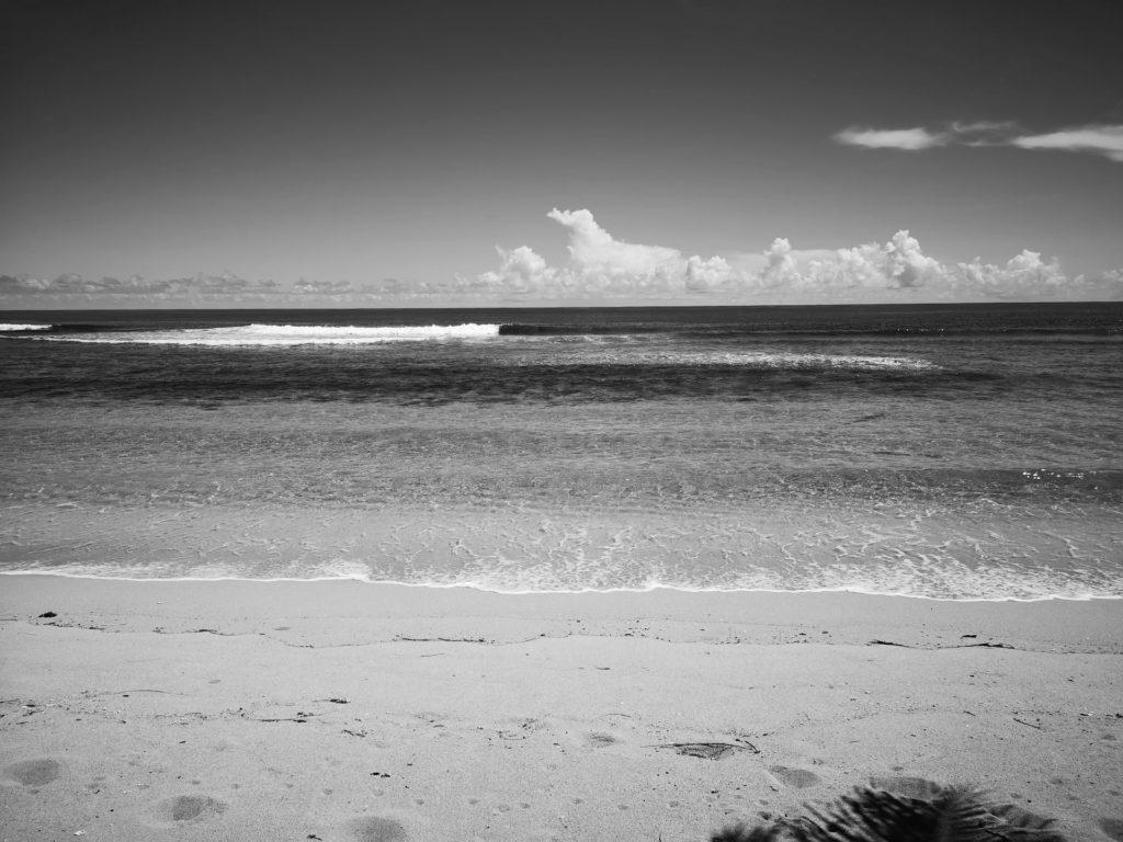 Sandstrand und Meer